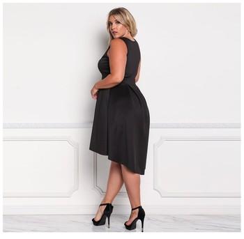 Temporada 2019 V Cuello Patrones Corto Gordo Vestido De Las Mujeres Plus Tamaño Baja Moq 10 Pcs Pequeña Orden Buy Vestido Corto De Las Mujeres De La