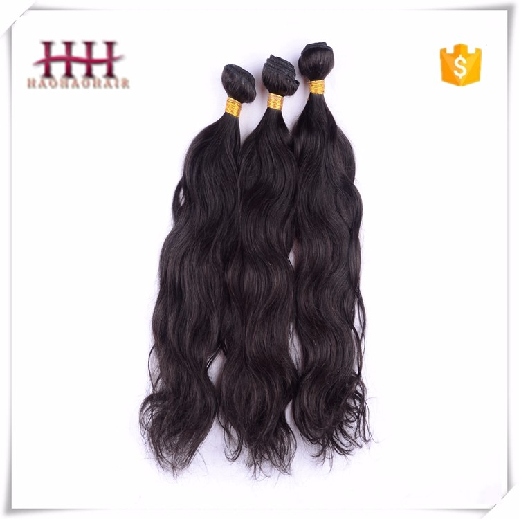 Alibaba china Hao Hao unprocessed remy virgin brazilian hair ,human hair extensions 9A natural wave hair weave