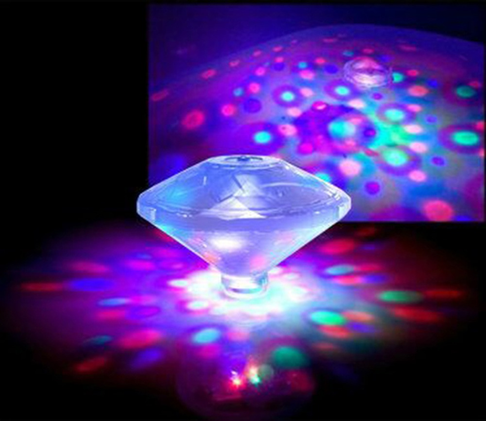 The new upgraded version of the decorative colorful diamond underwater lights loaded dry batteries
