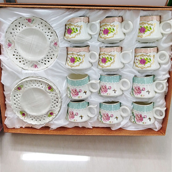 Arabic Turkish coffee cup tea cup set 24pcs