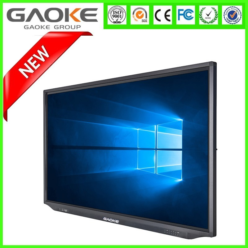 75inch 10 touch points 4K android wall mount touch screen, projector and PC and TV all in one
