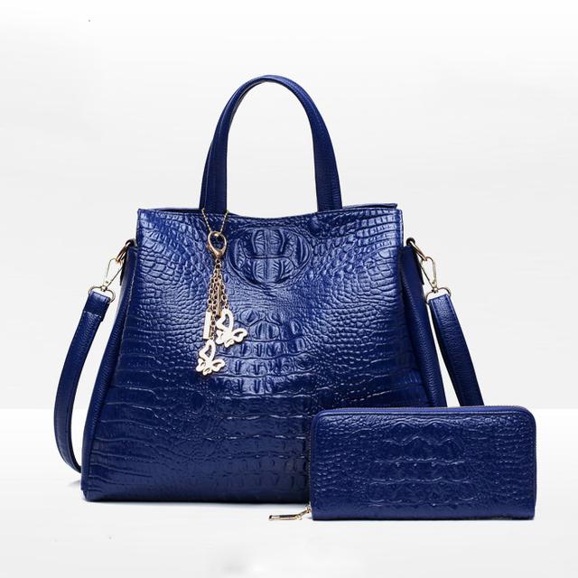 54dd7bb9afd1 Women Handbag Sets 2 Pieces Bag PU Leather Tote Small Shoulder Bag