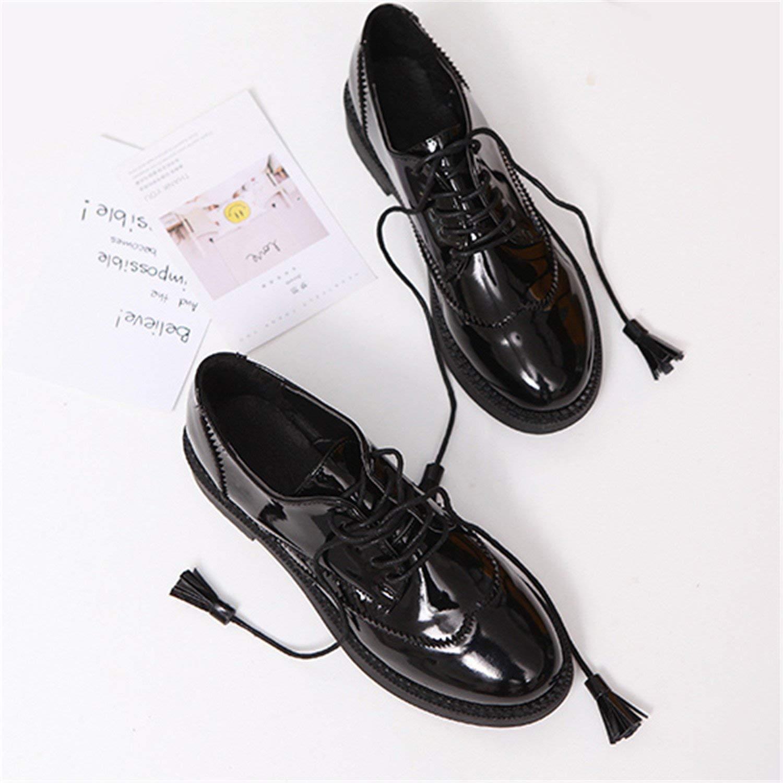 68dd7ecaad72 Get Quotations · Frozac Mujeres pisos Nuevo Estilo Británico Oxford Zapatos  Mujeres Primavera de Cuero Suave Zapatos Retro borla