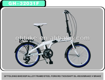 "20"" aluminium unfolded bike folding bike"