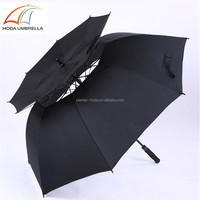 automatic double layers outdoor and oversize windproof golf umbrella