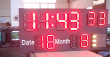 large electronic prayer clock with time temperature