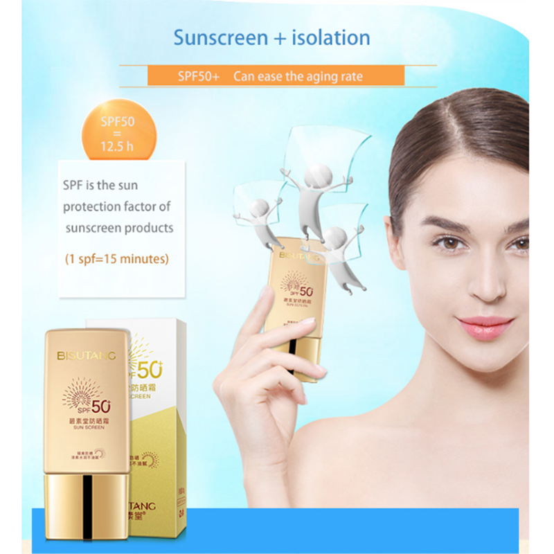 2019 Newest item Whitening sunscreen private label with Waterproof sunscreen lotion spf 50 sunscreen cream
