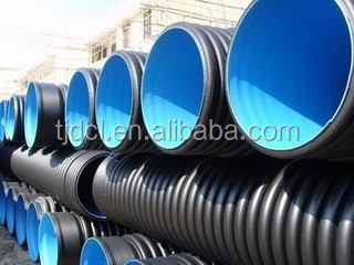 Hdpe Plastic Steel Belt Enhanced Spiral Corrugated Pipe