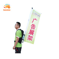 easy carry advertising backpack banner made in china for atv or promotion