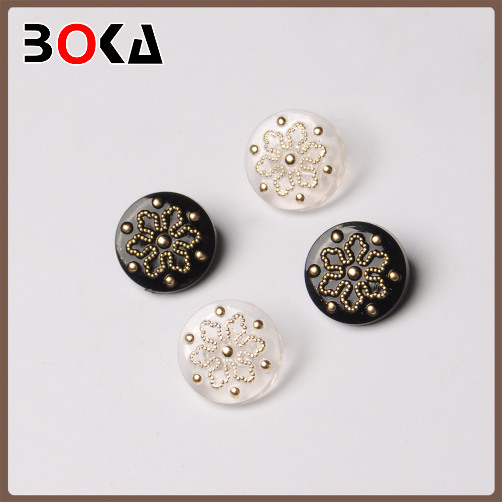 New arrival plastic concave buttons uniform accessories fabric covered