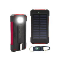 Wholesale Solar Power Bank 20000mah Waterproof Solar Charger Portable Powerbank 20000mah