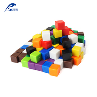 educational toy blocks plastic Counting Cubes Maths Cubes square educational plastic cube 10 mm