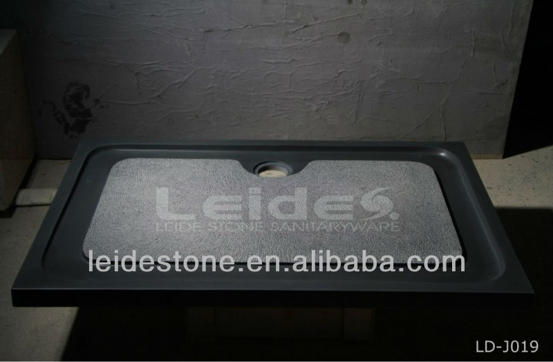 Noir base de douche en granit noir pierre bac à douche en granit ...