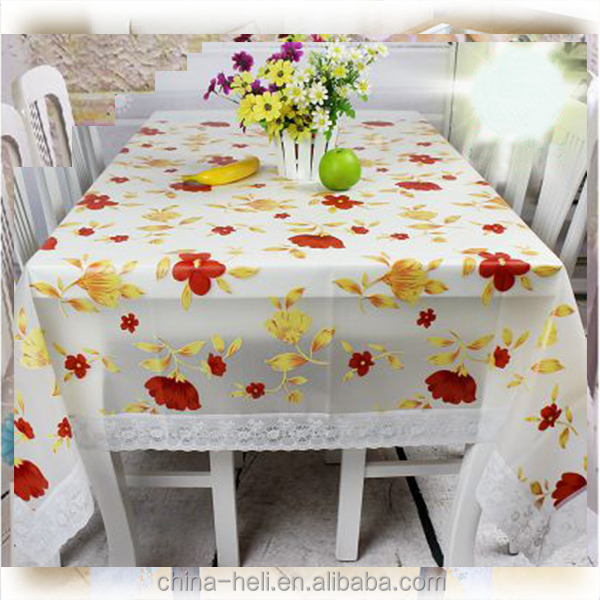 Peva/Eva/ Rubber Anti-slip Tablecloth Lace