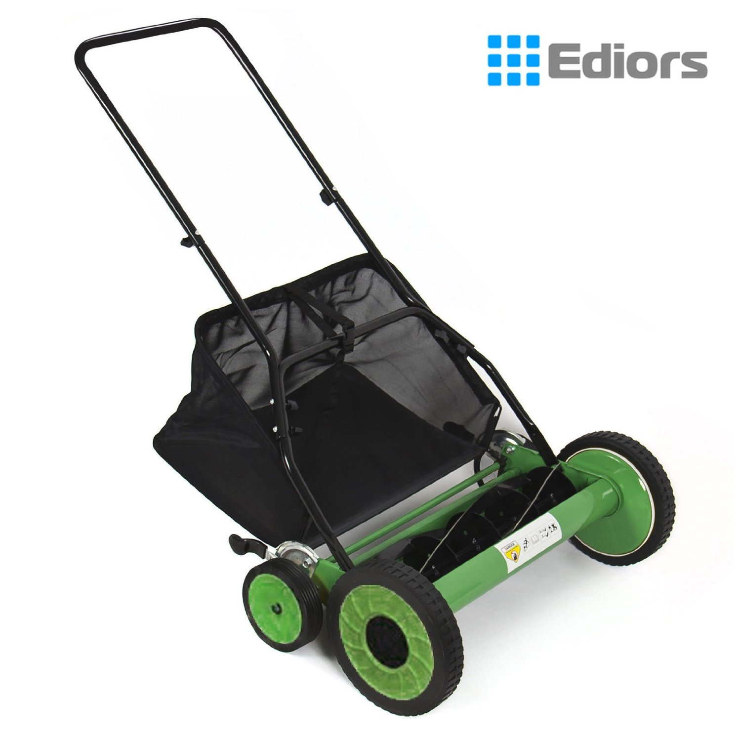 "Ediors® Lawn Mower 20"" Classic Hand Push Reel W/ Grass Catcher 6 Adjustable Height 20"""