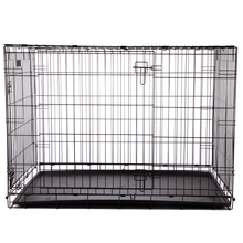 Modern unique iron fence dog kennel with wheels