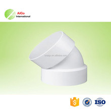 High quality lowest price pvc fitting 22.5 degree elbow