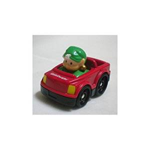 Fisher Price Little People WHEELIES Christmas Holiday - Elf in RED car
