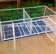 Factory made strictly checked outdoor metal dog kennel cage stainless steel