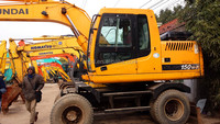 Used wheel excavator original korean Hyundai 150w /Doosan Daewoo and Hyundai DH 130 140 150 in Shanghai