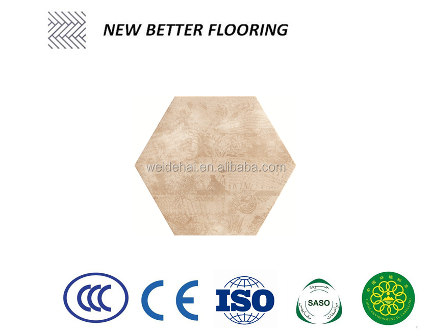 520*600 mm hexagon mosaic non slippery pocelain tiles in foshan floor and <strong>wall</strong>