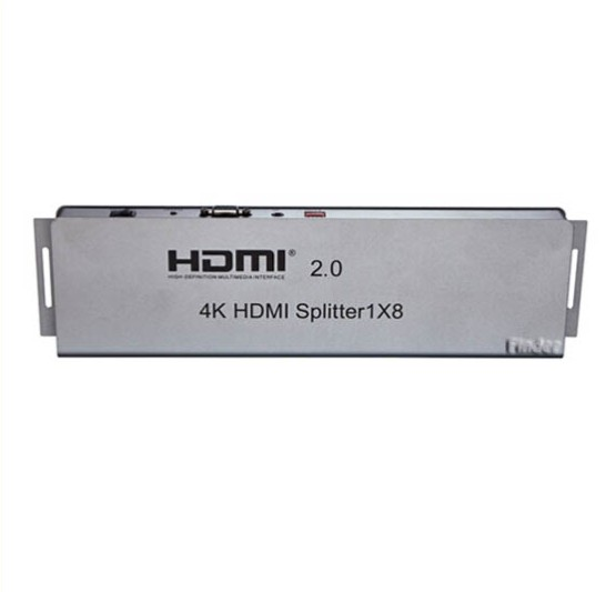 4 K HDMI 2.0 HDMI Splitter 1 In 8 Out 1x8 3D HDCP2.0 สนับสนุน RS232 IR