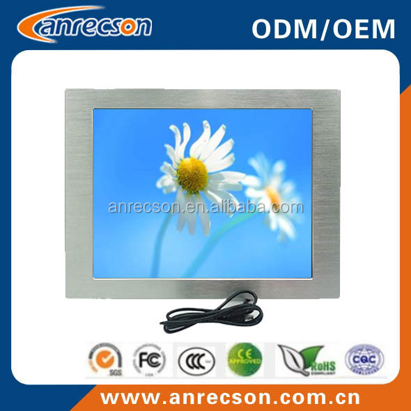 12.1 inch industrial front ip65 embedded rugged monitor with touchscreen