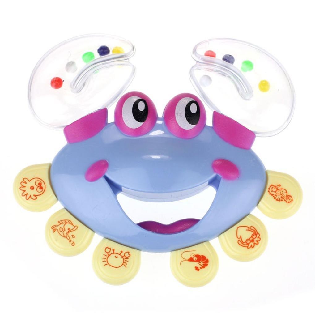 Baby Jingle Ring Handbell Rattle,Hemlock Toddler Handbell Musical Instrument Jingle Toy (Blue)