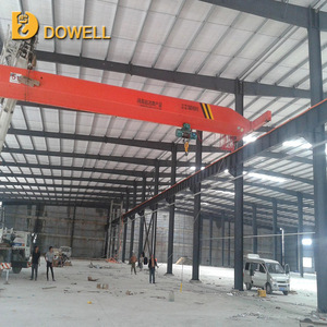 Material stock 20t single girder overhead crane with electric hoist