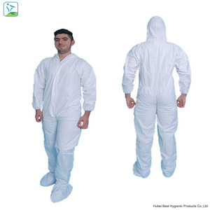 industry medical SMS protective suit coverall, white industry coverall to India Market