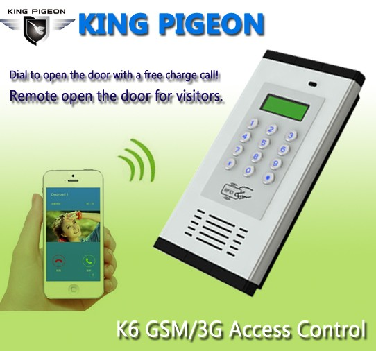 gsm 3g access control & apartment intercom k6 gsm gate opener
