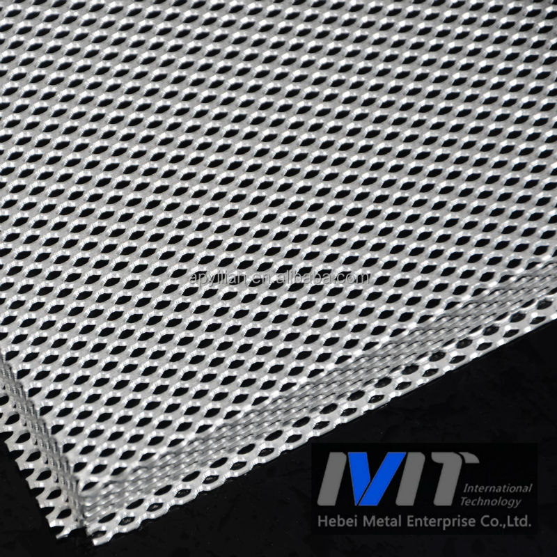 Aluminum expanded mesh for exterior wall panels decoration for Aluminium decoration