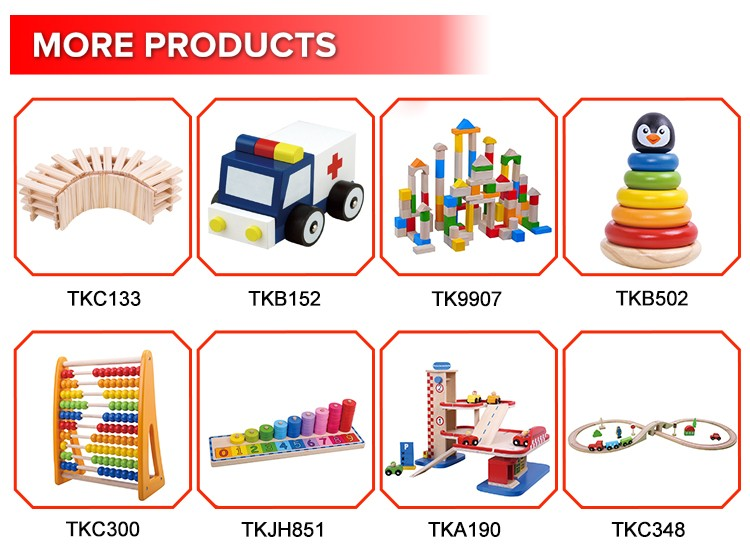 Best Selling Wood Blocks Letter Train Building Alphabet & Number Trach