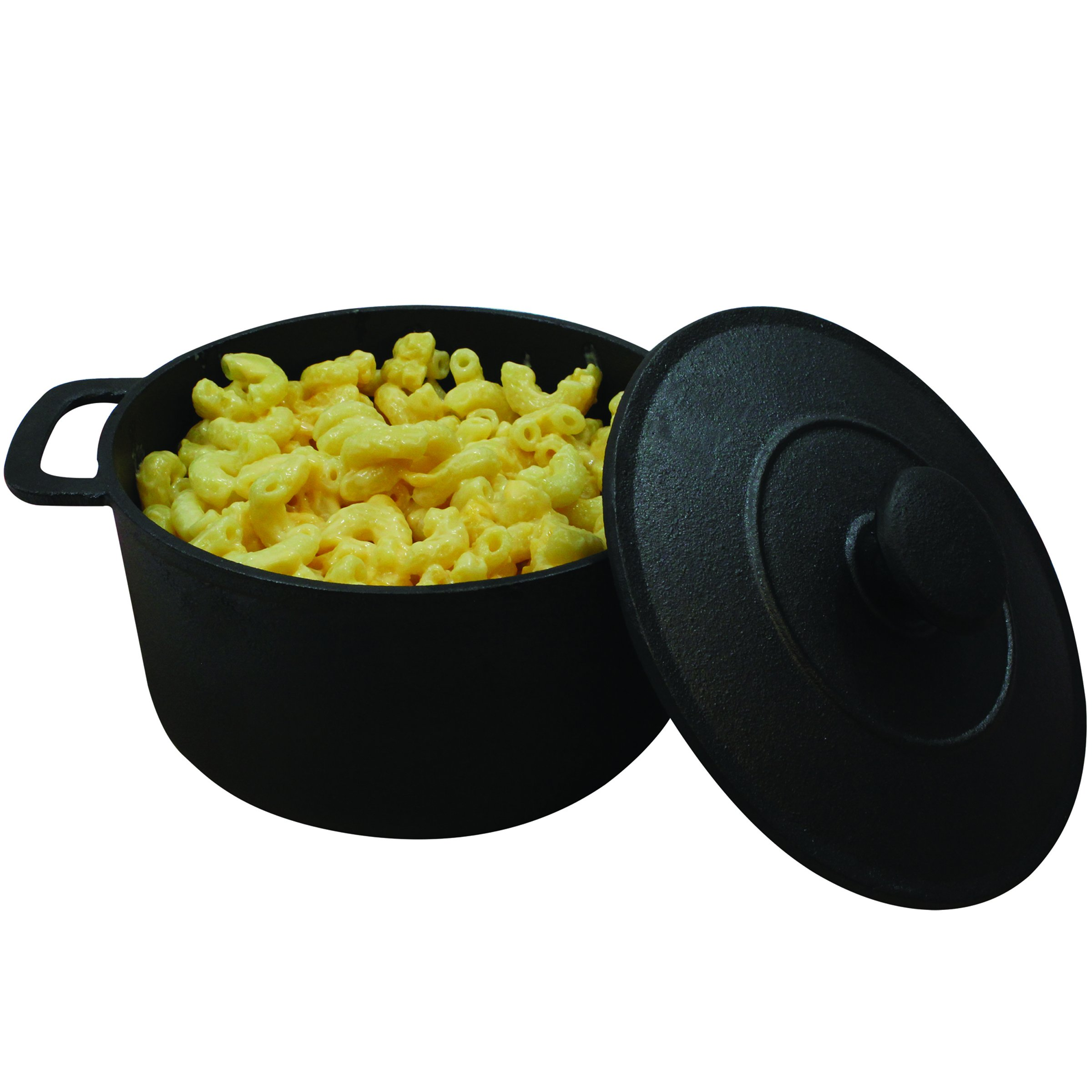"""TableCraft Products CW30148 Cast Iron Mini Round Casserole with Lid,5⅛"""" Dia (6¾"""" with Handles) x 2½"""" (3¾"""" with Lid), 3.75"""" Height, 5.125"""" Width, 6.75"""" Length"""