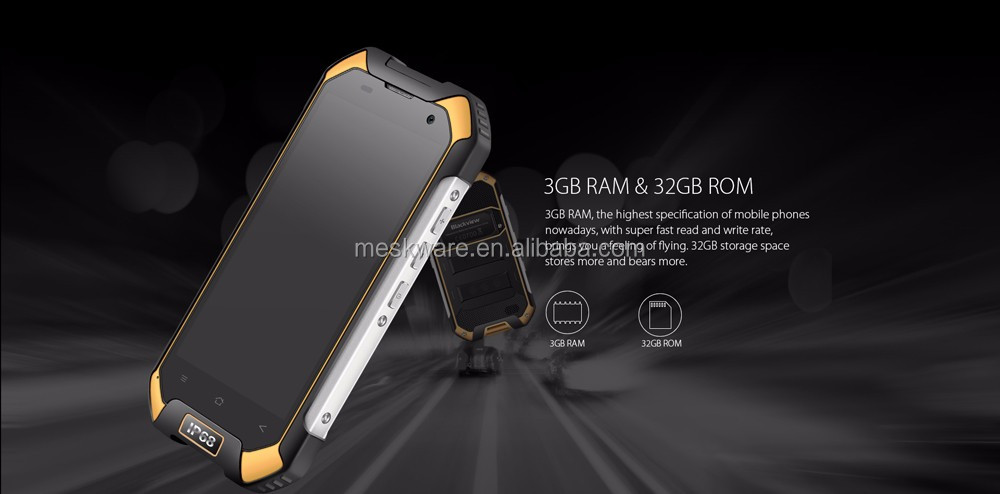 Primo Android 6.0 2.0 Ghz Octa Core 4G Rugged Smartphone, rugged smart phone, 4G telefono cellulare robusto con 3 GB di RAM + 32 Gb NFC SOS