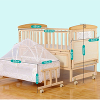 2018 most popular pine wood multipurpose baby cot bed prices/foldable baby cot