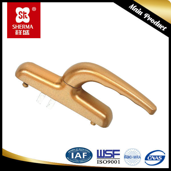 Window handle ,made of aluminium and zinc alloy