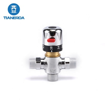 High Quality Sanitary Ware brass hot cold water temperature control valve Thermostatic Mixing Valve