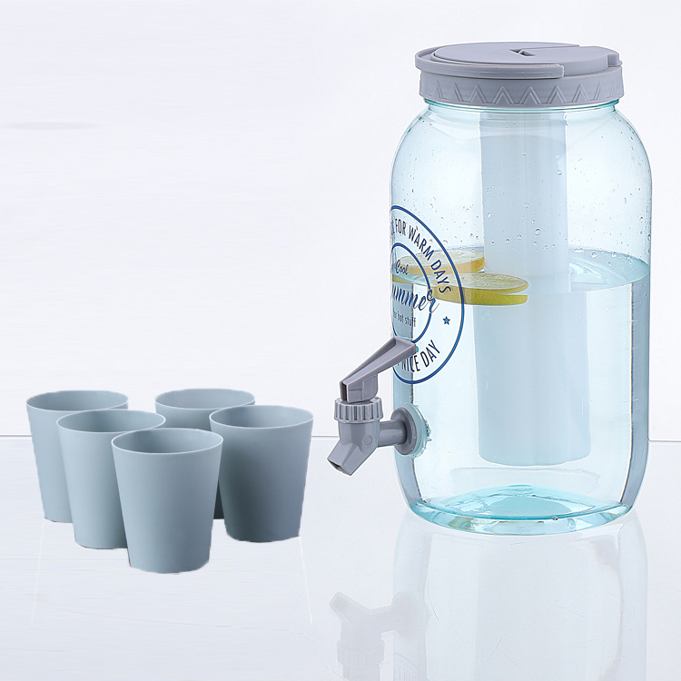 4L plastic dispenser portable cold ice cube beverage dispenser