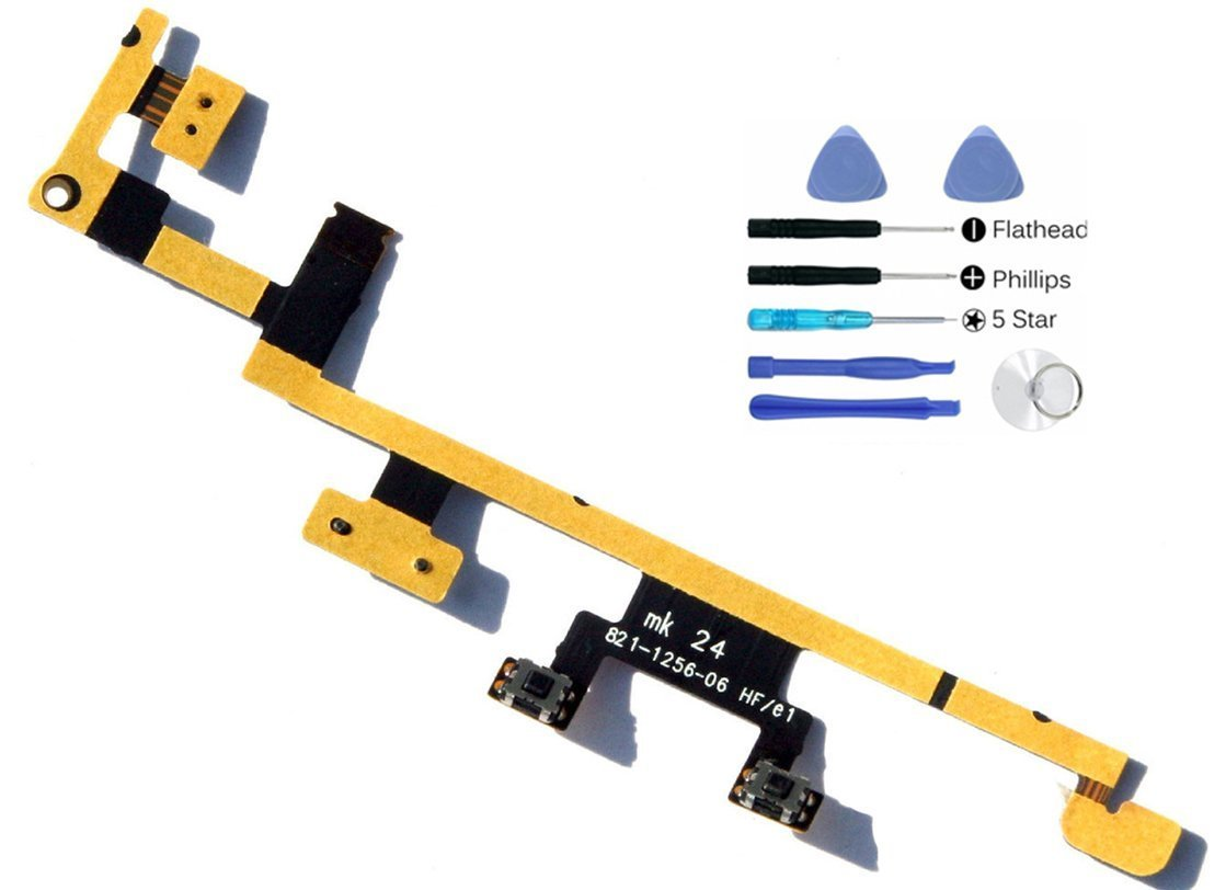 (md0410) Ipad 3 & 4 Power On Off Volume Vibrate flex ribbon cable Replacement Part + Tools Kit