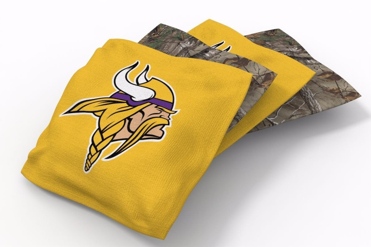Minnesota Vikings RealTree Camo Bean Bags-4pk (B)
