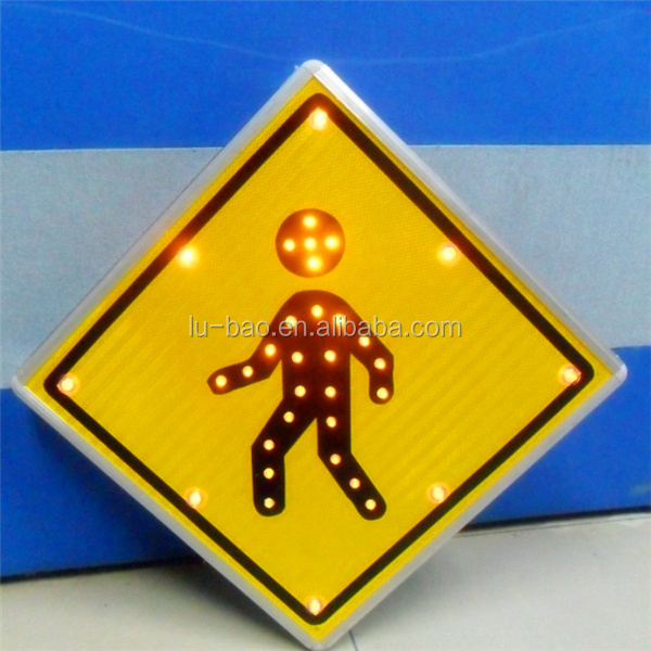 High Quality Aluminum Reflective Custom Warning Road Safety Solar Traffic Sign