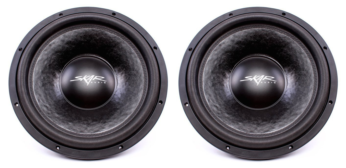 "(2) Skar Audio VVX-15v3 D2 15"" 1200W Max Power Dual 2 Subwoofer"