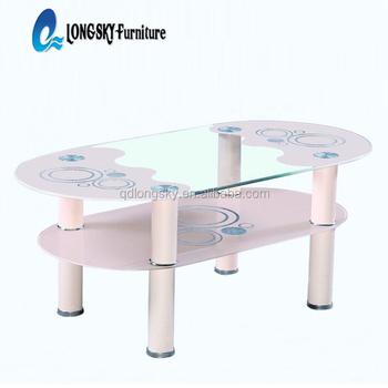 Ls 1097 new design glass teapoy tea poi cheap price coffee for Glass tea table price