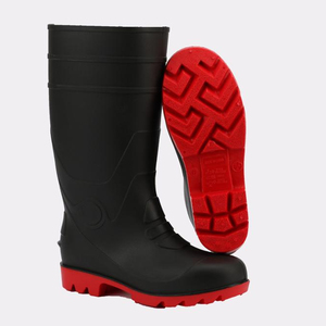Cheap black/red PVC design your own men wellington rain boots wholesale work boots