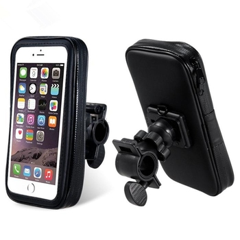 Waterproof Handlebar Bag For Bicycles Transparent Touchable Pouch Case Bike  Phone Holder Mount 360 Rotating Frame Mount Amazon - Buy Waterproof