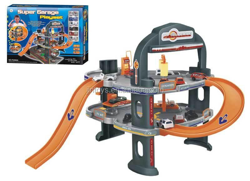 Kis Plastic Diy Car Parking Lot Toys Assemble Toy Super Garage