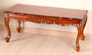 Antique Hand Carved Coffee Table With Cabriole Legs EFS A T05