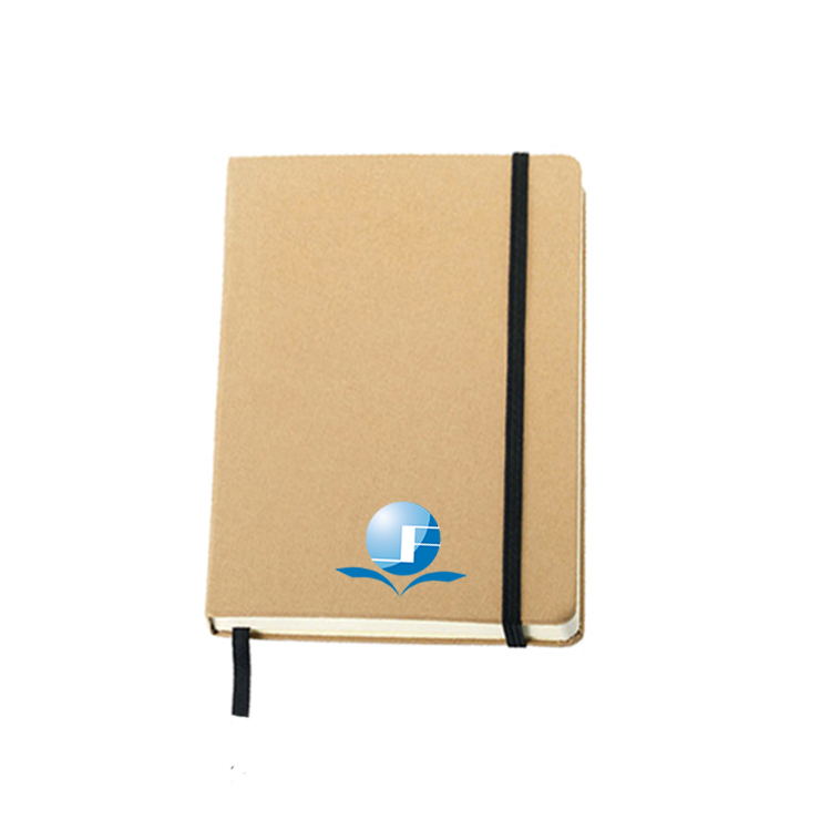 Logo Custom Eco-Friendly Paper Cover Casebound Wholesale A5 Kraft Notebook