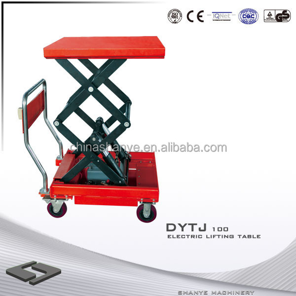 Electric lift mechanism hydraulic diuble scissor lift table